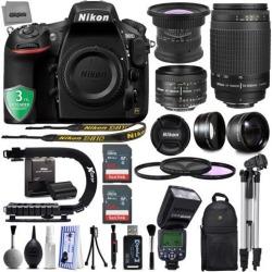 Nikon D810 36.3MP 1080P DSLR Camera w/ Wi-Fi & GPS Ready - 7 fps + 5 Lens - 15 to 300mm - 128GB - 30PC Kit - Nikon 50mm 1.8D - Nikon 70-300G.