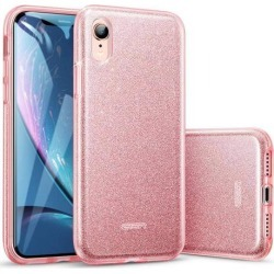 ESR iPhone XR Case, ESR Makeup Glitter Case [Three Layer] for Women Compatible with 6.1 inch iPhone XR (Released in 2018) - Rose Gold