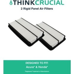 2 Rigid Panel Air Filters Fit Acura Truck MDX, Honda Truck Odyssey & More, Compare to Part # CA10013 & A25651, Designed & Engineered by Think Crucial