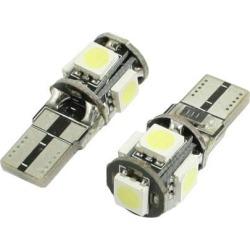 Unique Bargains Unique Bargains 2 Pcs Car T10 5-SMD 5050 SMD LED Canbus No Error Light Bulb Lamp White