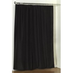 Carnation Home Fashions Standard-Sized Polyester Fabric Shower Curtain Liner in Black