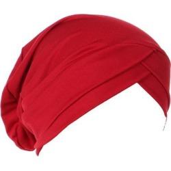 Silk Beanie Hat Scarf Chemo Cap Turban Headwear Sleep Hair Wrap Night Bonnet Burgundy