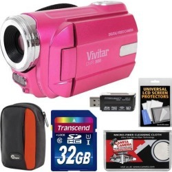 Vivitar DVR-508 HD Digital Video Camera Camcorder Kit (Pink)