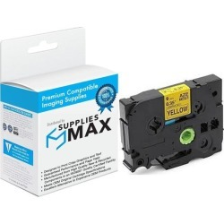 SuppliesMAX Compatible Replacement for Brother Black on Yellow Laminated P-Touch Label Tape (3/8in X 26.25Ft.) (TZ-S621) found on Bargain Bro India from Newegg Business for $12.99