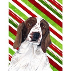Carolines Treasures SC9340GF Welsh Springer Spaniel Candy Cane Holiday Christmas Flag - Garden Size, 11 x 15 in.