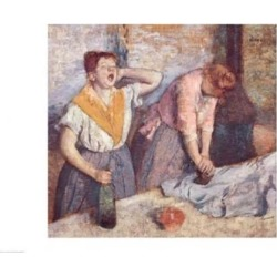Posterazzi BALXIR33372LARGE The Laundresses C.1884 Poster Print by Edgar Degas - 36 x 24 in. - Large