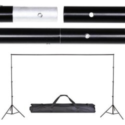 8.5' x 10' Adjustable Photography Background Backdrop Stand Support Crossbar Carry Bag Kit Studio