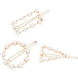 3Pcs Geometric Pearl Hair Clips Triangle Round Rectangle Hair Accessories
