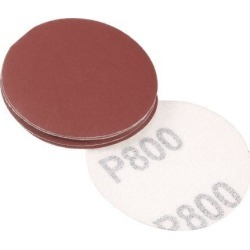 2-inch Hook and Loop Sanding Discs, 800-Grits Grinding Abrasive Aluminum Oxide Flocking Sandpaper for Random Orbital Sander 10pcs