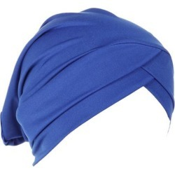 Silk Beanie Hat Scarf Chemo Cap Turban Headwear Sleep Hair Wrap Night Bonnet Blue