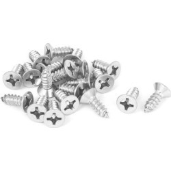 M5.5x16mm 316 Stainless Steel Flat Head Phillips Self Tapping Screws Bolts 20pcs