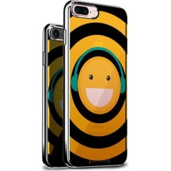 LUXENDARY EMOJI WITH HEADPHONES DESIGN CHROME SERIES CASE FOR IPHONE 6/6S PLUS