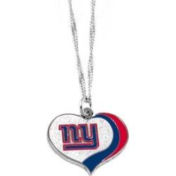 New York Giants NFL Glitter Heart Necklace Charm Gift