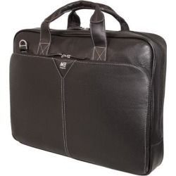 Mobile Edge Black Deluxe Leather Laptop Briefcase - 16' PC/17' MacBook Model MEBCL1