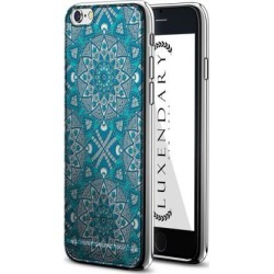 LUXENDARY BLUE BOHO STYLE PATTERN DESIGN CHROME SERIES CASE FOR IPHONE 6/6S PLUS