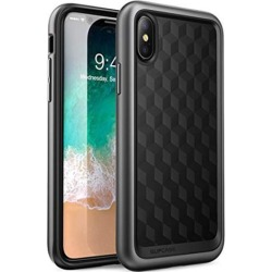 SUPCASE iPhone X, iPhone Xs Case, [Unicorn Beetle Style] Premium Hybrid Protective Clear Case for iPhone X 2017/ iPhone Xs 2018 Release (MetallicGray)