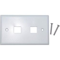 Cable Wholesale Wall Plate 2 Hole for keystone Jack White