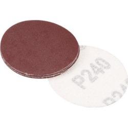 2-inch Hook and Loop Sanding Discs, 240-Grits Grinding Abrasive Aluminum Oxide Flocking Sandpaper for Random Orbital Sander 20pcs