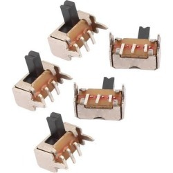 5 Pcs DC 50V 0.5A 2 Position 3P SPDT Micro Slide Latching Switch for Toys