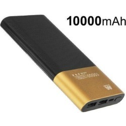 Gold/Black Power Bank (10000 mAh)