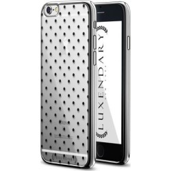 LUXENDARY BLACK POLKA DOT DESIGN CHROME SERIES CASE FOR IPHONE 6/6S PLUS
