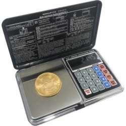 OPTIMA HOME SCALES ATOM POCKET WEIGH SCALE BLACK / SILVER