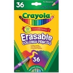 Crayola Erasable Colored Pencils 3.3mm Lead 36 Count Ast 681036