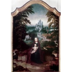 Posterazzi SAL900105665 Rest on the Flight to Egypt Adrien Ysenbrandt Ca.1500-1551 Flemish Poster Print - 18 x 24 in.