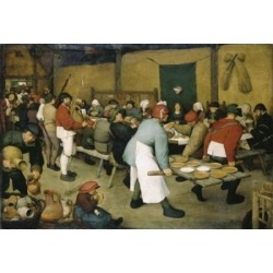 Posterazzi SAL2622109 The Peasants Wedding 1568 Pieter Bruegel the Elder Ca1525-1569 Flemish Oil on Wood Panel Kunsthistorisches - 18 x 24 in. found on Bargain Bro India from Newegg Canada for $55.18