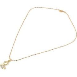 Women Rhinestone Swan Shape Pendant Chain Necklace Jewelry Gold Tone