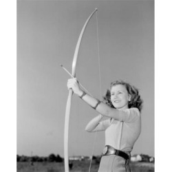 Posterazzi SAL255422355 Young Woman Shooting with Bow Poster Print - 18 x 24 in.
