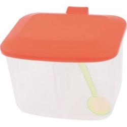 Unique Bargains Plastic 2 Compartments Salt Condiment Container Box w 2 Spoons