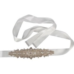 Wedding Bride Sash Belt Rhinestone Bridal Dress Belt Wedding Belts White