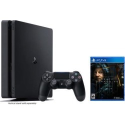 Playstation 4 Slim 1TB Jet Black Gaming Console Bundle With Death Stranding - 2019 New PS4 Game!