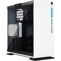 In Win 303 White SECC Steel/Tempered Glass Case ATX Mid Tower, Dual Chambered/High Air Flow