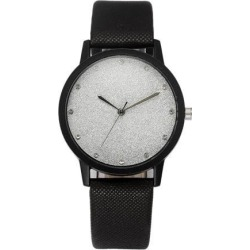 Fashion Cute Women Watches Quartz Precise Timing Ladies Faux Leather Sky Stars Wrist Watch white Sky stars