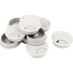 Unique Bargains 10 Pcs 48mm Gray PC Computer Table Plastic Grommet Cable Tidy Wire Hole Cover found on Bargain Bro Philippines from Newegg Business for $11.67