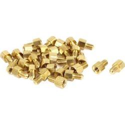 30 Pcs M4 5mm+6mm Male Female Brass Screw PCB Motherboard Standoffs Hex Spacers