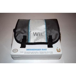 Messenger Carry Bag Silver & White Nintendo Wii Console Game System New in Box
