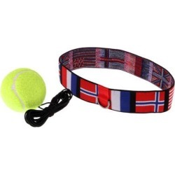 Boxing Training Fight Tennis Ball & Head Band Yellow Ball National Flag 2