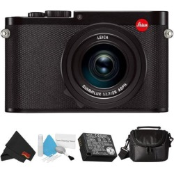 Leica Q (Typ 116) 24.2 MP Digital Camera (Black) 19000 Bundle with Carrying Case