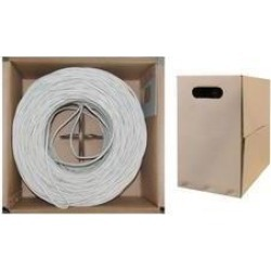 Cable Wholesale CAT5E UTP Bulk Cable Solid 350MHz 24 AWG White - 1000 ft