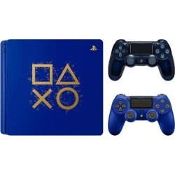 PlayStation 4 Days of Play Limited Edition 1TB Console with Extra 500 Million Limited Edition Dualshock 4 Wireless Controller
