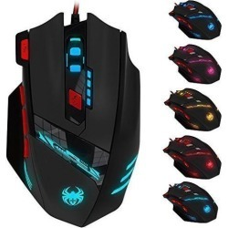Zelotes C12 4000 DPI Programmable Gaming Mouse for PC Mac Computer Laptop, 12 Programmable Buttons, Weight Tuning Set, Wired USB Connection