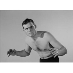 Posterazzi SAL255419008 Portrait of Young Man in Fighting Stance Poster Print - 18 x 24 in.