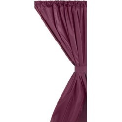Carnation Home Fashions Indoor Vinyl Window Curtain in Burgundy