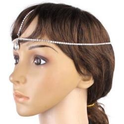 Crystal Rhinestone Dangle Forehead Dance Hair Head Chain Headpiece found on Bargain Bro India from Newegg Canada for $6.47