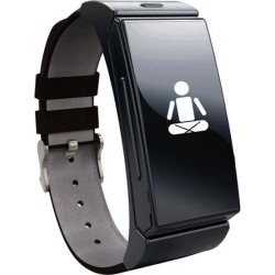 INDIGI® BLUETOOTH SMART WATCH OLED TOUCH DISPLAY BUILT-IN HEART RATE MONITOR PEDOMETER BLACK