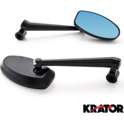 Krator Custom Rear View Mirrors Black Pair w/Adapters For Suzuki GSXR GSX-R Gixxer Hayabusa 1300 found on Bargain Bro India from Newegg Canada for $25.10