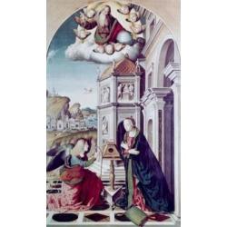 Posterazzi SAL900103747 The Annunciation Marco Palmezzano Ca.1460-1539 Italian Poster Print - 18 x 24 in.